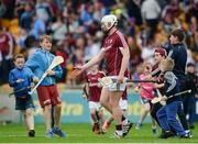 28 May 2017; Young supporters make their way towards Joe Canning of Galway after the Leinster GAA Hurling Senior Championship Quarter-Final match between Galway and Dublin at O'Connor Park, in Tullamore, Co. Offaly. Photo by Daire Brennan/Sportsfile