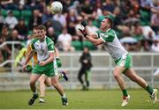 28 May 2017; Liam Gavaghan of London scores a point during the Connacht GAA Football Senior Championship Quarter-Final match between London and Leitrim at McGovern Park, in Ruislip, London, England.   Photo by Seb Daly/Sportsfile