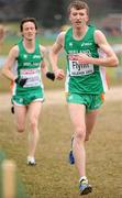 11 December 2011; David Flynn, right, and David Fitzmaurice, Ireland, in action during the U23 Men's event at the 18th SPAR European Cross Country Championships 2011. Velenje, Slovenia. Picture credit: Stephen McCarthy / SPORTSFILE