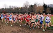 11 December 2011; Athletes compete during the U23 Men's event at the 18th SPAR European Cross Country Championships 2011. Velenje, Slovenia. Picture credit: Stephen McCarthy / SPORTSFILE