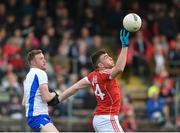 27 May 2017; Peter Kelleher of Cork in action against Ray O'Ceallaigh of Waterford during the Munster GAA Football Senior Championship Quarter-Final match between Waterford and Cork at Fraher Field in Dungarvan, Co Waterford. Photo by Matt Browne/Sportsfile