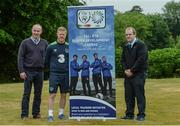 29 May 2017; In attendance at the FAI ETB Player Development Courses launch are, from left, Brendan Forkan, MSLETB, Daryl Horgan, Republic of Ireland International and Graduate of the Castlebar FAI ETB Player Development Course, and Anthony Quinn MSLETB. The FAI ETB Player Development Courses are funded by the Mayo, Sligo and Leitrim Education and Training Board. Applications are now open for the courses at www.fai.ie/fai-etb/courses. FAI National Training Centre in Abbotstown, Co. Dublin. Photo by Piaras Ó Mídheach/Sportsfile