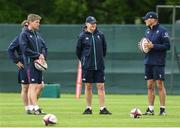 31 May 2017; Joe Schmidt head coach of Ireland with coaching staff Girvan Dempsey, right, Ronan O'Gara and Richie Murphy during squad training at Carton House, Maynooth, in Co. Kildare. Photo by Matt Browne/Sportsfile