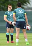 31 May 2017; Paddy Jackson and Joey Carbery of Ireland during squad training at Carton House, Maynooth, in Co. Kildare. Photo by Matt Browne/Sportsfile