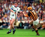 16 August 1998; Anthony Kirwan of Waterford in action against Liam Keoghan of Kilkenny during the Guinness All-Ireland Senior Hurling Championship Semi-Final match between Kilkenny and Waterford at Croke Park in Dublin. Photo by Ray McManus/Sportsfile