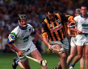 16 August 1998; Brian McEvoy of Kilkenny in action against Séan Cullinane of Waterford during the Guinness All-Ireland Senior Hurling Championship Semi-Final match between Kilkenny and Waterford at Croke Park in Dublin. Photo by Ray McManus/Sportsfile