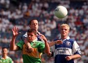 30 August 1998; Colm Clear of Laois in action against Sean O'Sullivan of Kerry during the All-Ireland Minor Football Championship Semi-Final match between Kerry and Laois at Croke Park in Dublin. Photo by Ray Lohan/Sportsfile