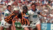 16 August 1998; Ken McGrath of Waterford in action against Tom Hickey of Kilkenny during the Guinness All-Ireland Senior Hurling Championship Semi-Final match between Kilkenny and Waterford at Croke Park in Dublin. Photo by Matt Browne/Sportsfile