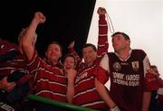 27 September 1998; Galway manager John O'Mahoney, centre, and selector Pete Warren, left, celebrate after Bank of Ireland All-Ireland Senior Football Championship Final match between Kildare and Galway at Croke Park in Dublin. Photo by David Maher/Sportsfile