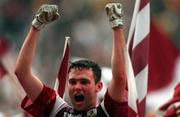 27 September 1998; Shay Walsh of Galway celebrates after the Bank of Ireland All-Ireland Senior Football Championship Final match between Kildare and Galway at Croke Park in Dublin. Photo by Brendan Moran/Sportsfile