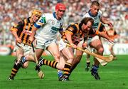 16 August 1998; Willie O'Connor of Kilkenny in action against Michael White, left, and Dan Shanahan of Waterford during the Guinness All-Ireland Senior Hurling Championship Semi-Final match between Kilkenny and Waterford at Croke Park in Dublin. Photo by Ray McManus/Sportsfile