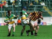 9 June 2002; Kilkenny's Henry Shefflin is tackled by Hubert Rigney and Barry Whelahan, Offaly. Kilkenny v Offaly, Leinster Senior Hurling Championship Semi-finals, Semple Stadium, Thurles, Tipperary. Picture credit; Ray McManus / SPORTSFILE