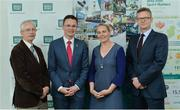 31 May 2017; In attendance are, from left, John Treacy, Chief Executive Officer, Irish Sports Council, Minister Patrick O'Donovan TD, Minister of State for Tourism and Sport, Sarah Keane, President Olympic Council and CEO Swim Ireland and James Galvin, CEO Federation of Irish Sport, at The Federation of Irish Sport Annual Conference 2017 at the Aviva Stadium, in Lansdowne Road, Dublin. Photo by Piaras Ó Mídheach/Sportsfile
