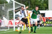 2 June 2017; Paddy Barrett of Dundalk in action against Ryan Delaney of Cork City during the SSE Airtricity League Premier Division match between Dundalk and Cork City at Oriel Park in Dundalk, Co. Louth. Photo by Ramsey Cardy/Sportsfile