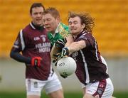 8 January 2012; Alan Mulhall, Offaly, in action against Kieran Sheridan, Westmeath. Bord Na Mona O'Byrne Cup, First Round, Offaly v Westmeath, O'Connor Park, Tullamore, Co. Offaly. Picture credit: Pat Murphy / SPORTSFILE