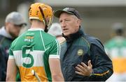 27 May 2017; Offaly manager Kevin Ryan with Seán Gardiner before the Leinster GAA Hurling Senior Championship Quarter-Final match between Westmeath and Offaly at TEG Cusack Park in Mullingar, Co Westmeath. Photo by Piaras Ó Mídheach/Sportsfile