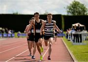 3 June 2017; Rory Lodge of St Kierans, Co Kilkenny on his way to winning the Senior Boy's 800m , ahead of Mark Glynn of Newbridge, Co Kildare, who finished second, during the Irish Life Health All Ireland Schools Track & Field Championships 2017 at Tullamore Harrier Stadium, in Co. Offaly. Photo by Sam Barnes/Sportsfile