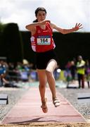 3 June 2017; Grace Furlong of CBS New Ross, Co Wexford, on her way to winning the Senior Girl's Triple Jump during the Irish Life Health All Ireland Schools Track & Field Championships 2017 at Tullamore Harrier Stadium, in Co. Offaly. Photo by Sam Barnes/Sportsfile