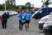 3 June 2017; Evan Comerford, left, and Jonny Cooper of Dublin ahead of the Leinster GAA Football Senior Championship Quarter-Final match between Dublin and Carlow at O'Moore Park, Portlaoise, in Co. Laois. Photo by Daire Brennan/Sportsfile