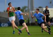 3 June 2017; Brendan Murphy of Carlow in action against Diarmuid Connolly, 11, and Jack McCaffrey of Dublin during the Leinster GAA Football Senior Championship Quarter-Final match between Dublin and Carlow at O'Moore Park, Portlaoise, in Co. Laois.  Photo by Ray McManus/Sportsfile