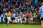 3 June 2017; Diarmuid Connolly of Dublin remonstrates with linesman Ciaran Branagan during the Leinster GAA Football Senior Championship Quarter-Final match between Dublin and Carlow at O'Moore Park, Portlaoise, in Co. Laois.  Photo by Ray McManus/Sportsfile