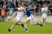 4 June 2017; Daniel Flynn of Kildare in action against Paul Kingston of Laois during the Leinster GAA Football Senior Championship Quarter-Final match between Laois and Kildare at O'Connor Park, in Tullamore, Co. Offaly.   Photo by Piaras Ó Mídheach/Sportsfile