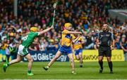 4 June 2017; Colm Galvin of Clare in action against Paul Browne of Limerick during the Munster GAA Hurling Senior Championship Semi-Final between Limerick and Clare at Semple Stadium in Thurles, Co. Tipperary. Photo by Diarmuid Greene/Sportsfile
