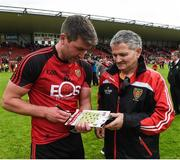 4 June 2017; Liam Rafferty of Down signing autographs after the Ulster GAA Football Senior Championship Quarter-Final match between Down and Armagh at Páirc Esler, in Newry. Photo by Philip Fitzpatrick/Sportsfile