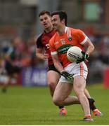 4 June 2017; Aidan Forker of Armagh in action during the Ulster GAA Football Senior Championship Quarter-Final match between Down and Armagh at Páirc Esler, in Newry. Photo by Philip Fitzpatrick/Sportsfile