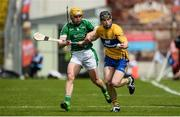 4 June 2017; Tony Kelly of Clare in action against Paul Browne of Limerick during the Munster GAA Hurling Senior Championship Semi-Final between Limerick and Clare at Semple Stadium in Thurles, Co. Tipperary. Photo by Diarmuid Greene/Sportsfile