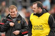 8 January 2012; Down manager James McCartan, left, and assistant manager Aidan O'Rourke. Dr. McKenna Cup, Section B, Down v Armagh, Pairc Esler, Newry, Co. Down. Picture credit: Oliver McVeigh / SPORTSFILE