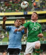 4 May 2017; Jonny Hayes of Republic of Ireland in action against Maximiliano Pereira of Uruguay during the international friendly match between Republic of Ireland and Uruguay at the Aviva Stadium in Dublin. Photo by David Maher/Sportsfile