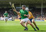 4 June 2017; Peter Casey of Limerick in action against Patrick O'Connor of Clare during the Munster GAA Hurling Senior Championship Semi-Final match between Limerick and Clare at Semple Stadium, in Thurles, Co. Tipperary. Photo by Ray McManus/Sportsfile