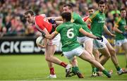 4 June 2017; Bevan Duffy of Louth in action against Donal Keogan and David McQuillan of Meath during the Leinster GAA Football Senior Championship Quarter-Final match between Meath and Louth at Parnell Park, in Dublin. Photo by Matt Browne/Sportsfile