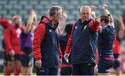 5 June 2017; British and Irish Lions head coach Warren Gatland and attack coach Rob Howley, left, during a training session at the QBE Stadium in Auckland, New Zealand. Photo by Stephen McCarthy/Sportsfile