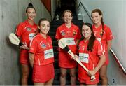 5 June 2017; Pictured at New Ireland Assurance's launch of the 2017 Cork Camogie championship season is Cork stars, from left, Ashling Thompson, Orla Cronin, Rena Buckley, Amy O'Connor and Meabh Cahalane. Photo by Ramsey Cardy/Sportsfile