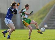 15 January 2012; Gary McFadden, Donegal, in action against Gearoid McKiernan, Cavan. Power NI Dr. McKenna Cup - Section C, Cavan v Donegal, Kingspan Breffni Park, Cavan. Picture credit: Brian Lawless / SPORTSFILE