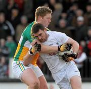 15 January 2012; Daryl Flynn, Kildare, in action against Alan Mulhall, Offaly. Bord na Mona O'Byrne Cup, Quarter-Final, Kildare v Offaly, St Conleth's Park, Newbridge, Co. Kildare. Picture credit: Dáire Brennan / SPORTSFILE