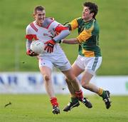 15 January 2012; Dessie Finnegan, Louth, in action against Paddy Gilsenan, Meath. Bord na Mona O'Byrne Cup, Quarter-Final, Meath v Louth, Pairc Tailteann, Navan, Co. Meath. Picture credit: David Maher / SPORTSFILE