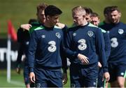 6 June 2017; Callum O'Dowda, left, and James McClean of Republic of Ireland during squad training at the FAI National Training Centre in Dublin. Photo by Seb Daly/Sportsfile