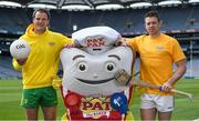 7 June 2017; The GAA and GPA are delighted to announce a new partnership with Pat the Baker to promote the new Protein Bread at Croke Park in Dublin. The five year revenue share agreement will see a percentage of all sales going towards the GPA Player Development Programme, supported by the GAA. The Programme assists county players in critical areas of their off-field lives including education, career and personal development, health and wellbeing. In attendance at the launch are, from left, Donegal footballer Michael Murphy and Tipperary hurler Padraic Maher. Photo by Brendan Moran/Sportsfile