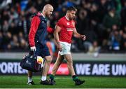7 June 2017; Rhys Webb of the British & Irish Lions leaves the pitch with British and Irish Lions head of medical Eanna Falvey during the match between Auckland Blues and the British & Irish Lions at Eden Park in Auckland, New Zealand. Photo by Stephen McCarthy/Sportsfile