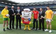 7 June 2017; The GAA and GPA are delighted to announce a new partnership with Pat the Baker to promote the new Protein Bread at Croke Park in Dublin. The five year revenue share agreement will see a percentage of all sales going towards the GPA Player Development Programme, supported by the GAA. The Programme assists county players in critical areas of their off-field lives including education, career and personal development, health and wellbeing. In attendance at the launch are, from left, Donegal footballer Michael Murphy Dermot Earley, CEO, GPA, Declan Fitzgerald, CEO, Pat the Baker, former Dublin footballer Alan Brogan, Peter McKenna, Commercial Director, GAA and Tipperary hurler Padraic Maher Photo by Brendan Moran/Sportsfile