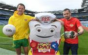7 June 2017; The GAA and GPA are delighted to announce a new partnership with Pat the Baker to promote the new Protein Bread at Croke Park in Dublin. The five year revenue share agreement will see a percentage of all sales going towards the GPA Player Development Programme, supported by the GAA. The Programme assists county players in critical areas of their off-field lives including education, career and personal development, health and wellbeing. In attendance at the launch are, from left, Donegal footballer Michael Murphy and former Dublin footballer Alan Brogan. Photo by Brendan Moran/Sportsfile