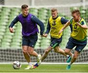 7 June 2017; Kevin Long, James McClean and Alex Pearce of the Republic of Ireland during squad training at the Aviva Stadium in Dublin. Photo by David Maher/Sportsfile