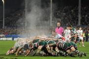 13 January 2012; Puan Pienaar, Ulster, puts the ball in to the scrum. Heineken Cup, Pool 4, Round 5, Ulster v Leicester Tigers, Ravenhill Park, Belfast, Co. Antrim. Picture credit: Oliver McVeigh / SPORTSFILE