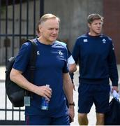 8 June 2017; Ireland head coach Joe Schmidt arrives for squad training at the Stevens Institute of Technology in Hoboken, New Jersey, USA. Photo by Ramsey Cardy/Sportsfile