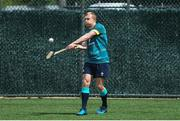 8 June 2017; Ireland's Keith Earls plays hurling during squad training at the Stevens Institute of Technology in Hoboken, New Jersey, USA. Photo by Ramsey Cardy/Sportsfile
