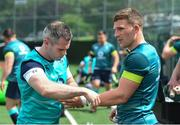 8 June 2017; Ireland's Andrew Conway and team doctor Ciaran Cosgrave during squad training at the Stevens Institute of Technology in Hoboken, New Jersey, USA. Photo by Ramsey Cardy/Sportsfile