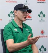 8 June 2017; Ireland head coach Joe Schmidt during a press conference at the Hyatt Regency Hotel in Jersey City, New Jersey, USA. Photo by Ramsey Cardy/Sportsfile